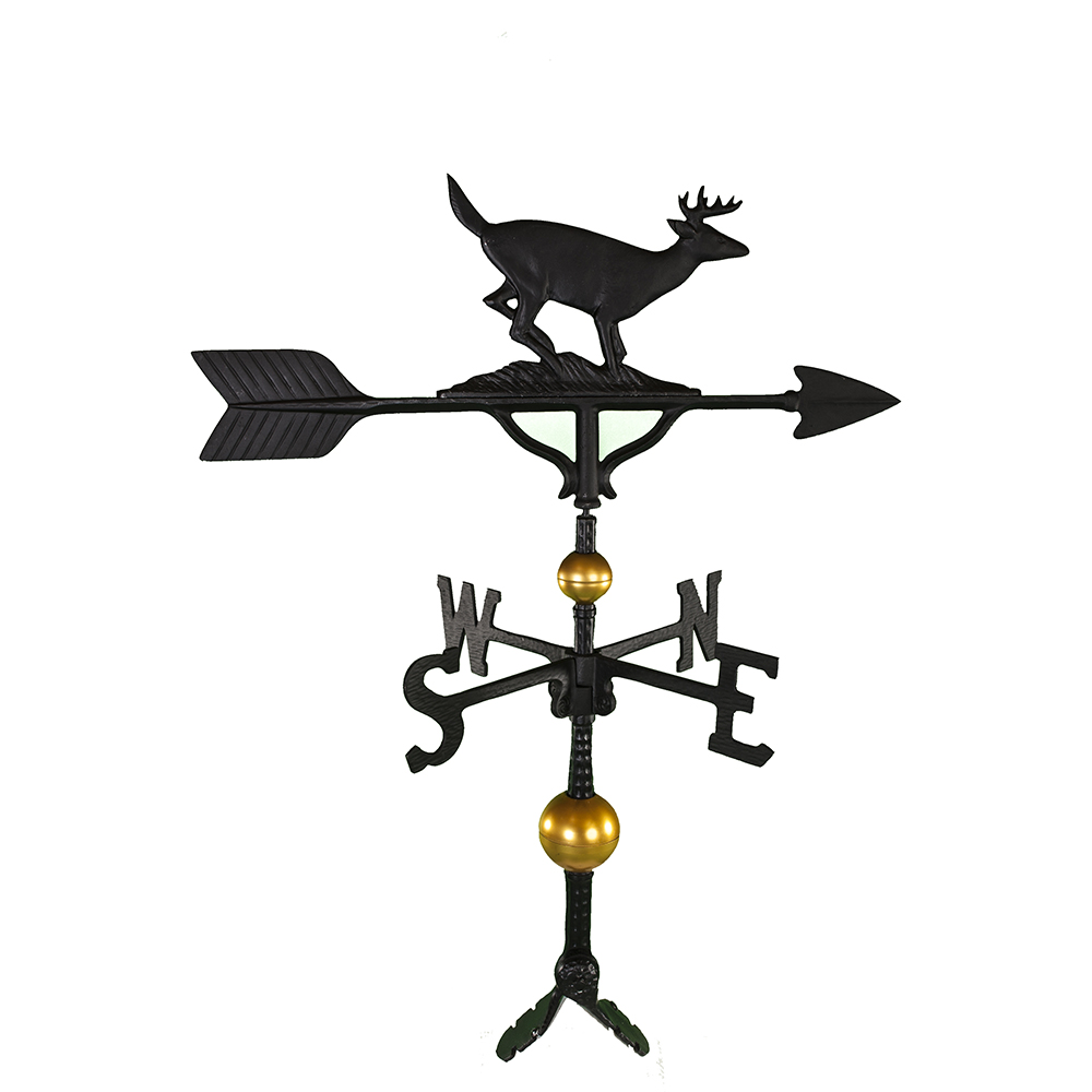 "Cast Aluminum Buck 32"" Weathervane - Deluxe"