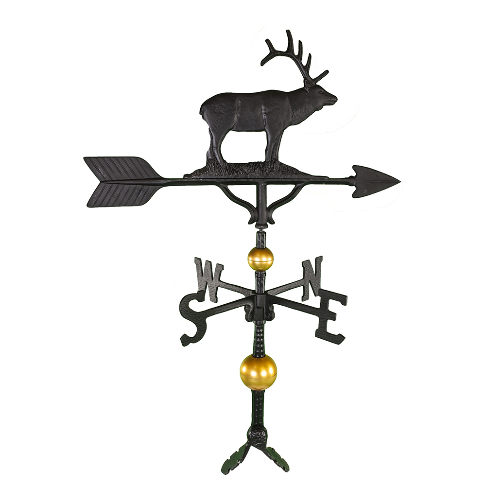 Cast Aluminum Elk 32in Weathervane - Deluxe