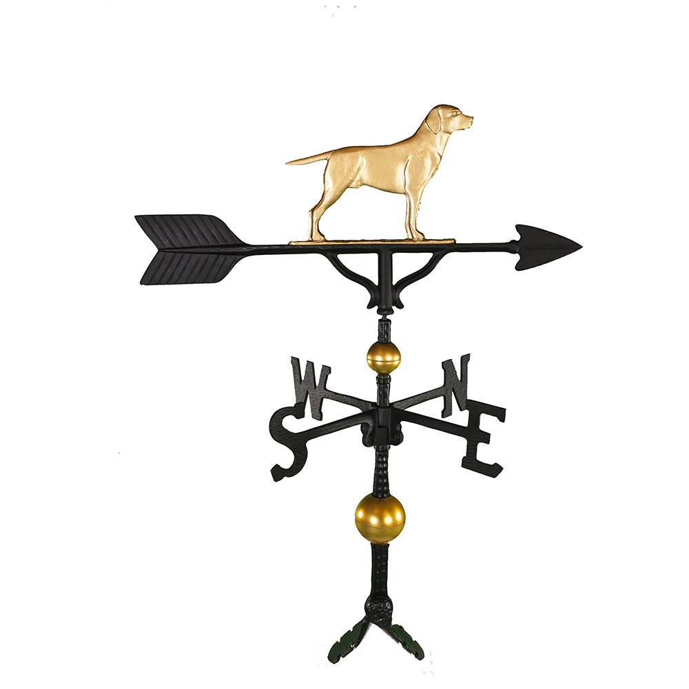 "Cast Aluminum Labrador Retriever 32"" Weathervane - Deluxe"
