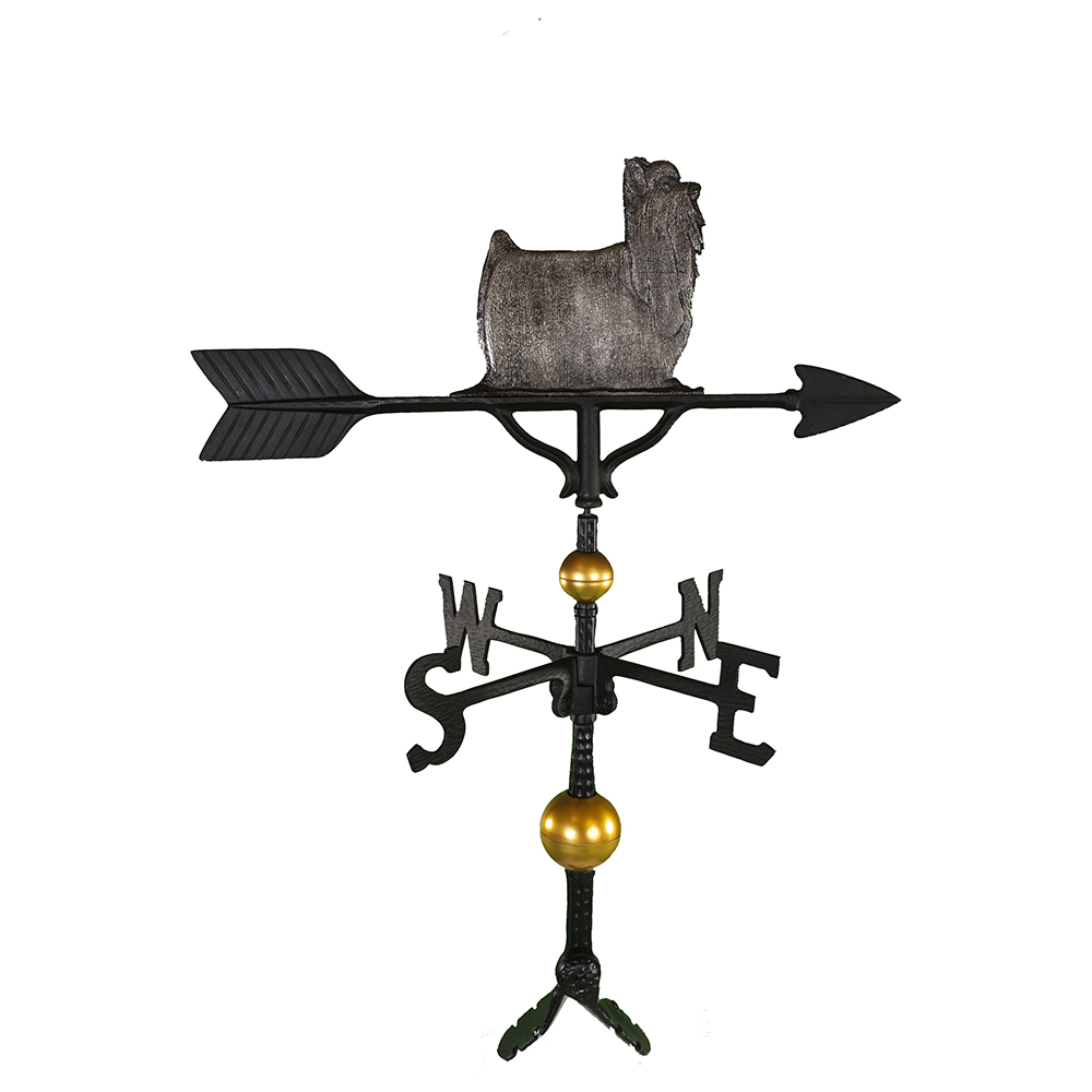 Cast Aluminum Yorkshire Terrier 32in Weathervane - ...