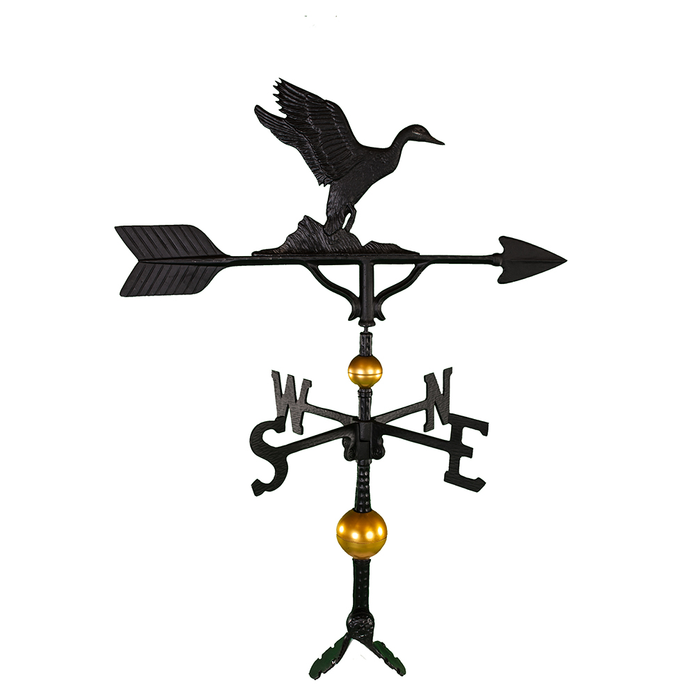 Cast Aluminum Duck 32in Weathervane - Deluxe