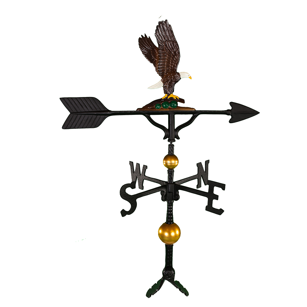 "Cast Aluminum Eagle 32"" Weathervane - Deluxe"