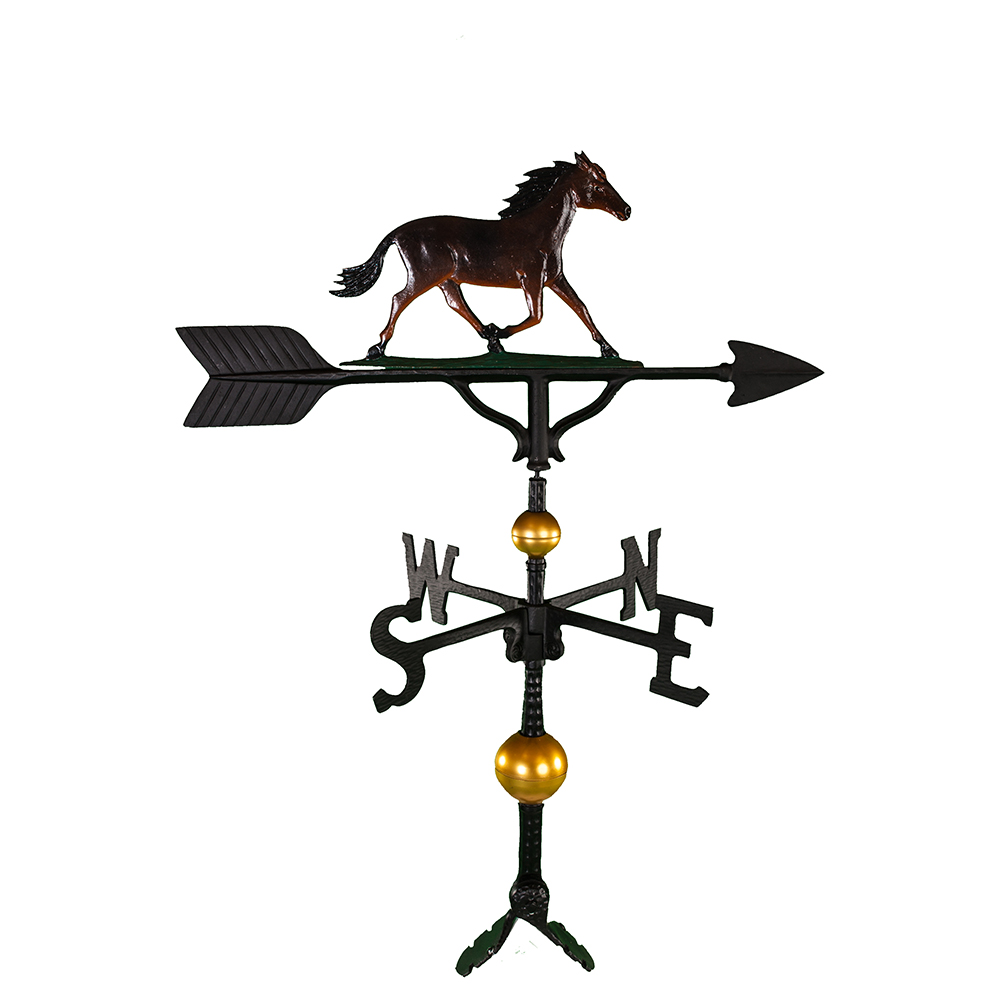 Cast Aluminum Horse 32in Weathervane - Deluxe
