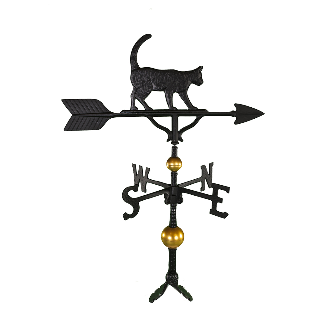 "Cast Aluminum Cat 32"" Weathervane - Deluxe"