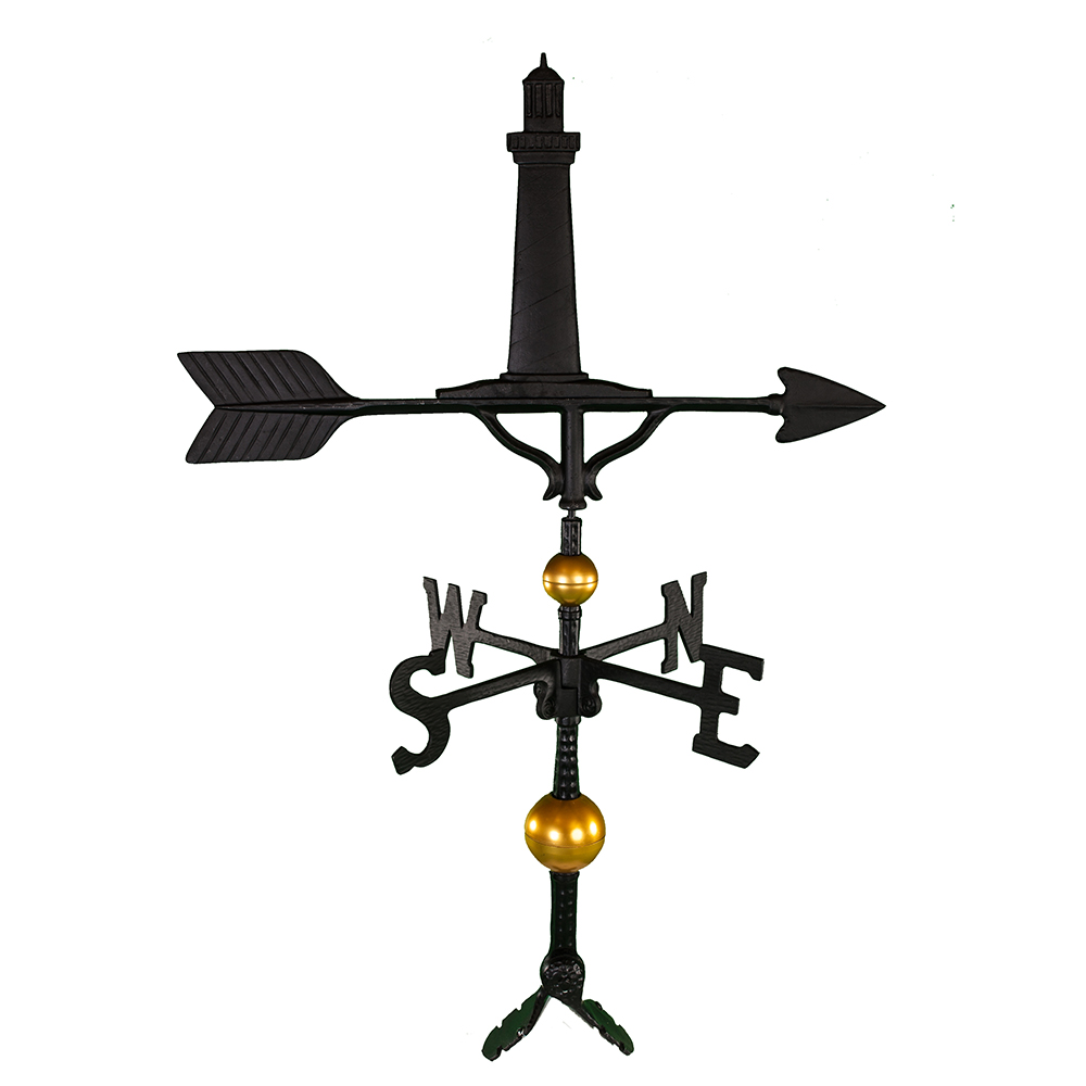 "Cast Aluminum Cape Cod Lighthouse 32"" Weathervane - Deluxe"