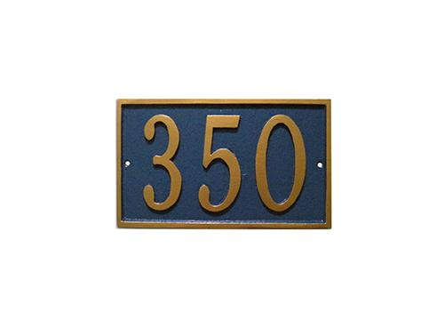Rectangular Golf Course Yardage Sign