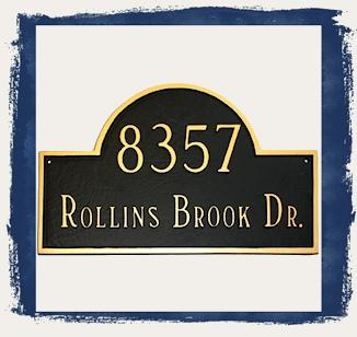 Classic Arch Address Plaques