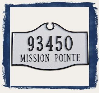 Colonial Address Plaques