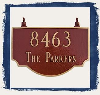 Double Sided Address Plaques