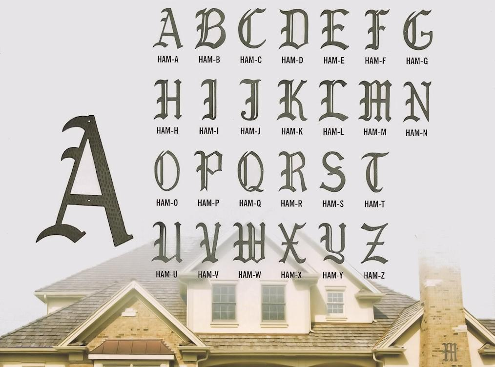 Home Accent Old English Monogram Letters
