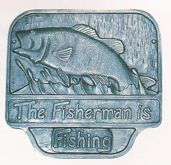 Fisherman Wall Plaque