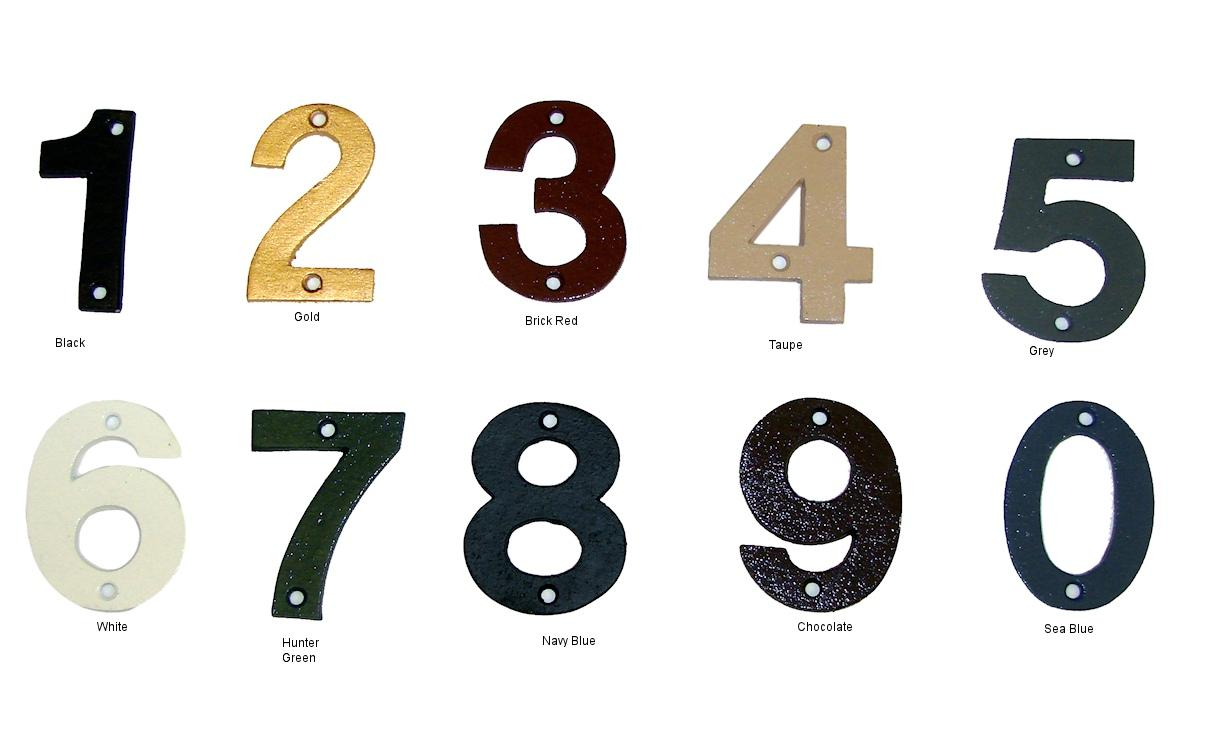 Helvetica Individual House Numbers