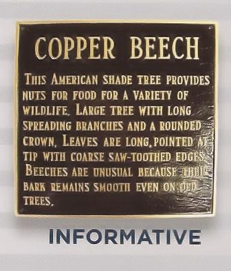 Custom Information Plaque