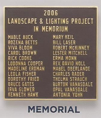Custom Memorial Building Plaque