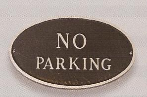 No Parking Sign Oval