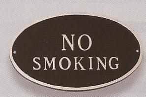 No Smoking Sign Oval