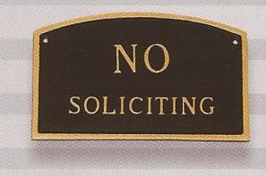 No Soliciting Sign Arch