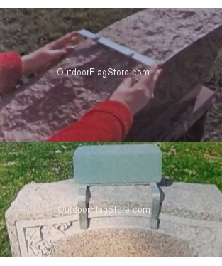 Flower Arrangement Headstone Oasis Topper