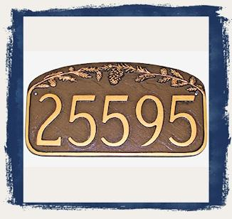Pine Cone Address Plaques