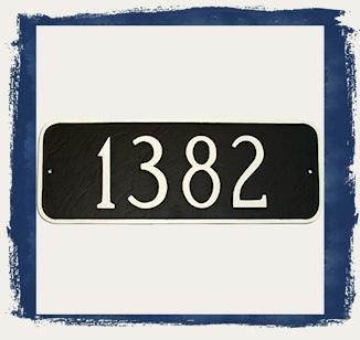 Rectangle Address Plaques