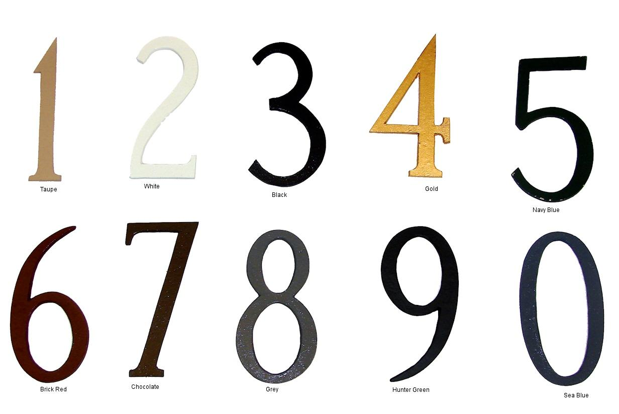 Standard Individual House Numbers