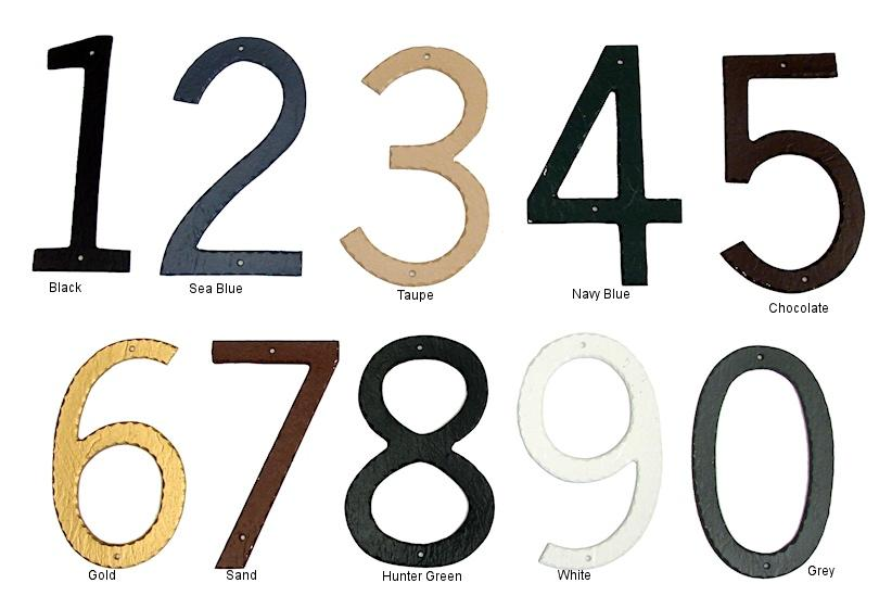 Textured Individual House Numbers